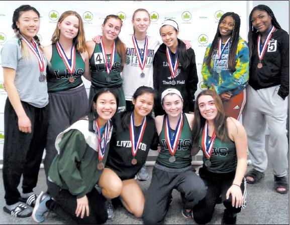 Lady Lancers Place 4th in Essex County Relays