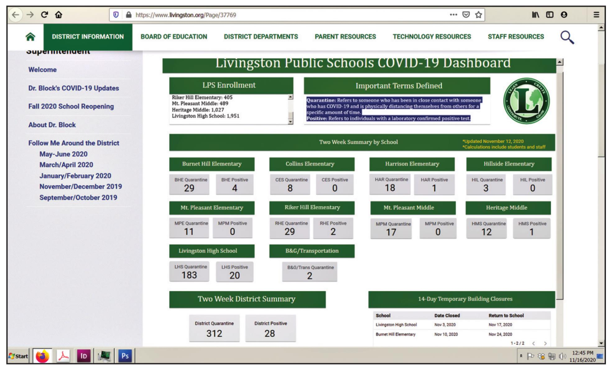 LPS Launches COVID-19 Dashboard 300+ Students, Faculty Quarantining