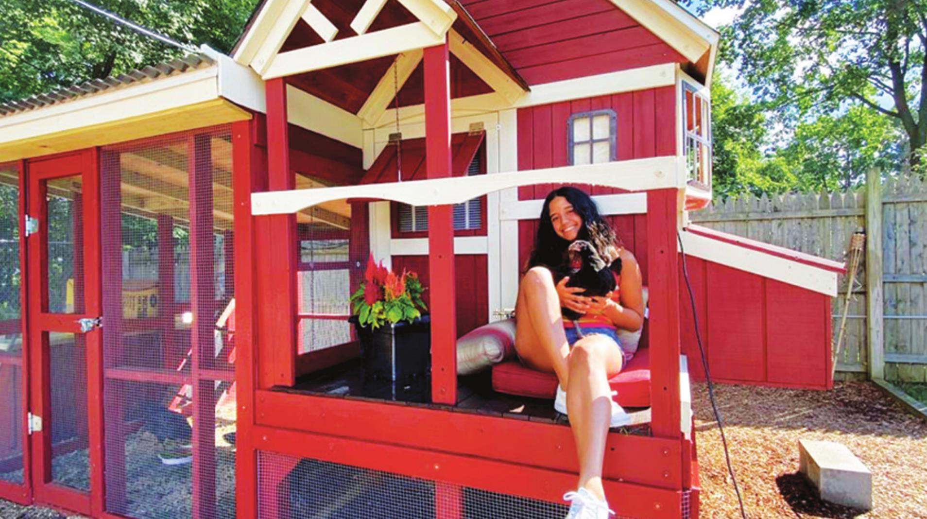 """""""Cooped Up"""" During the Quarantine, Family Creates a Home for Chickens"""