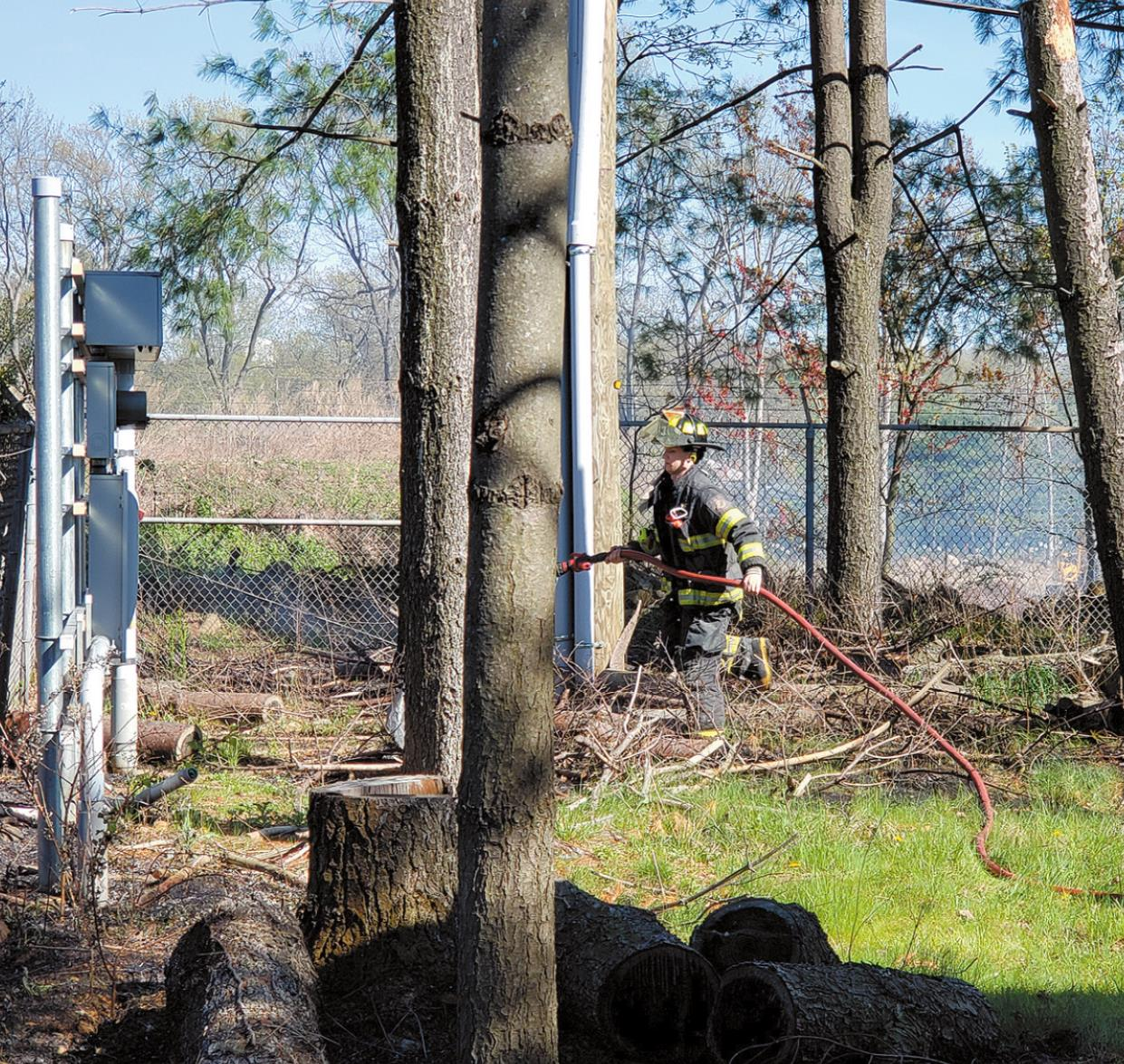 Brush Fire on Force Hill Road