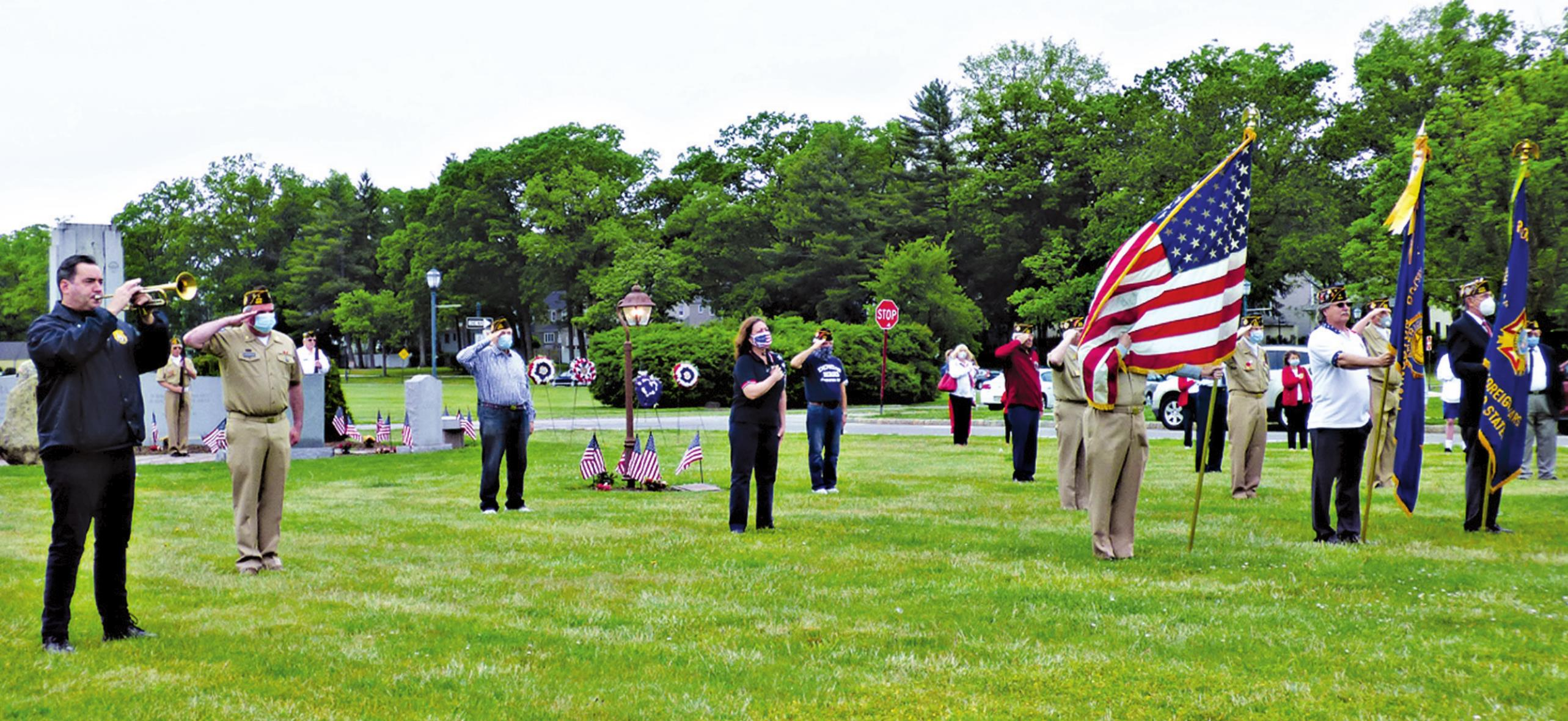 Livingston Veterans Hold Small Ceremony in Honor of Memorial Day