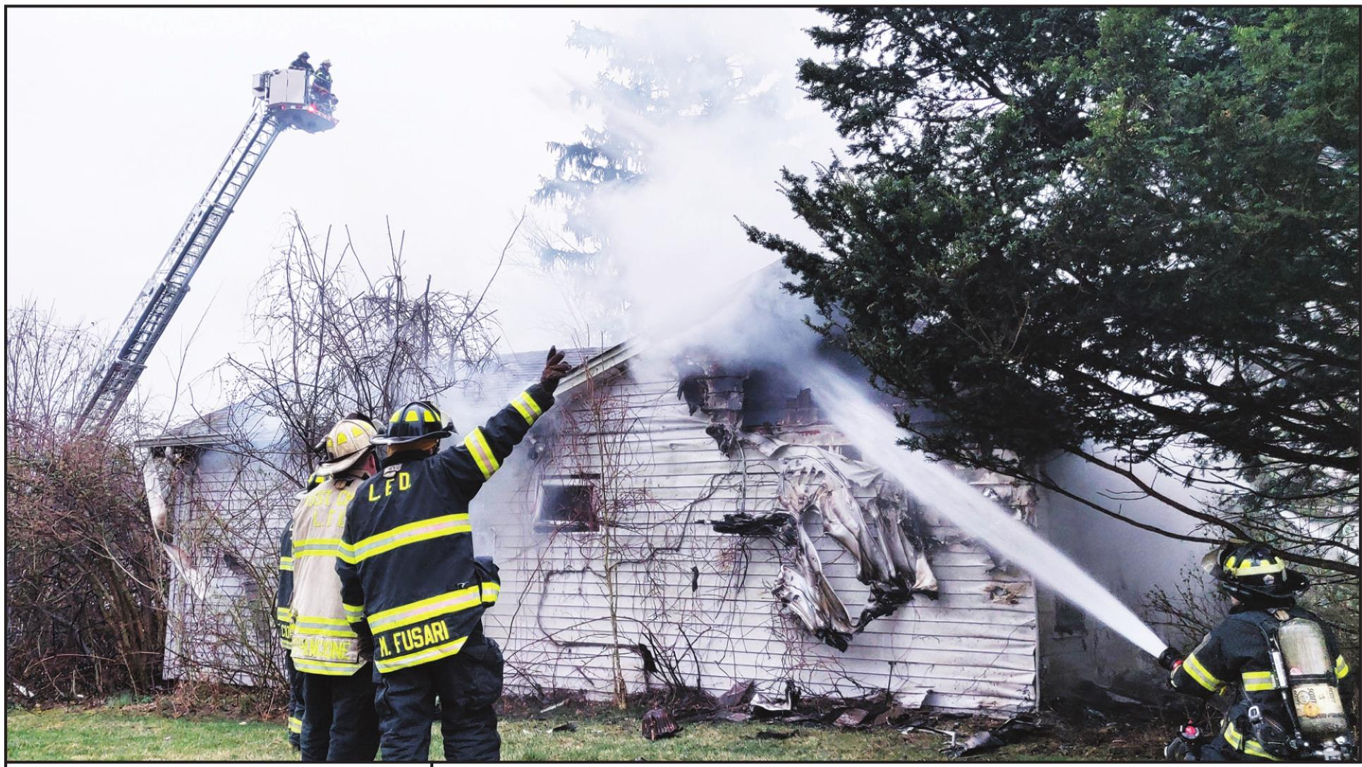 VACANT HOUSE DAMAGED BY FIRE