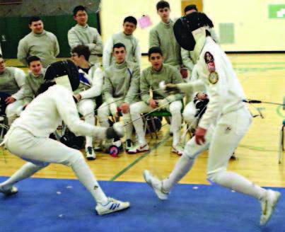 Fencing Team Hosts St. Peter's
