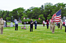 Livingston Veterans Hold Small Ceremony in Honor of Memorial Day