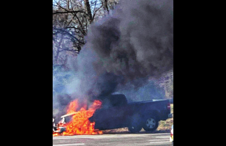 LFD Extinguishes Truck Fire