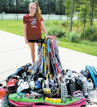College Lacrosse Player Starts Equipment Drive