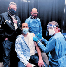 Police Officers Receive COVID-19 Vaccinations