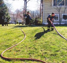Firefighters Extinguish Fire in Outdoor Kitchen