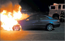 Parked Car Catches Fire