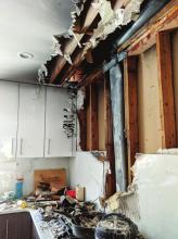 Stove Fire Damages Kitchen