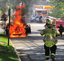 CAR FIRE NEAR LIVINGSTON CENTER