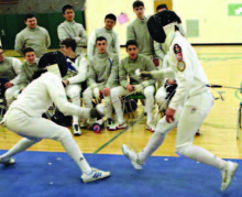 Fencing Team Hosts St. Peter's