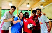 Red Bulls Visit Camp Hope